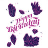 Greeting Card Crystal Birthday