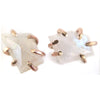 Moonstone Mismatched Shape Claw Stud Earrings