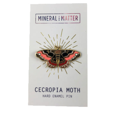 Enamel Pin Cecropia Moth