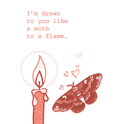 Greeting Card Moth to the Flame