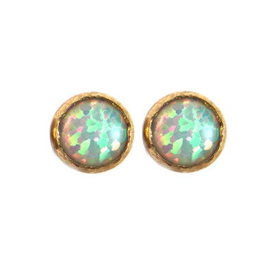 Mineral and Matter Opal Medium Size Stud Earrings