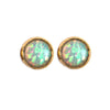 Opal Medium Size Stud Earrings