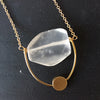 Quartz Loop Necklace