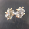 Rutilated Quartz Claw Stud Earrings