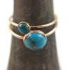 Turquoise and Copper Ring
