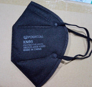 NEW Powecom KN95 BLACK Face Protection Masks