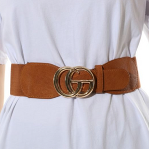 Rachels - Tan Stretch Gucci Inspired Belt