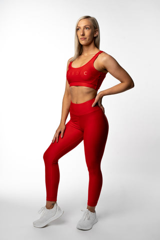 Revival Scrunch Leggings - Scarlet Red