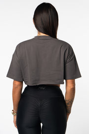 Nordic Oversized Crop - Charcoal Grey