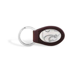 Kansas State Wildcats NCAA  Zep-Pro Leather Concho Key Fob Brown