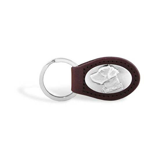 Labrador Zep-Pro Leather Concho Key Fob Brown