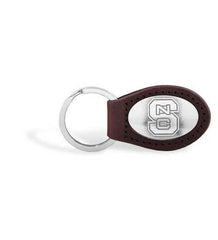 North Carolina State Wolfpack NCAA  Zep-Pro Leather Concho Key Fob Brown