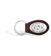 North Carolina Tar Heels NCAA  Zep-Pro Leather Concho Key Fob Brown
