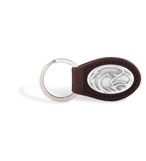 Southern Miss Golden Eagles NCAA Zep-Pro Leather Concho Key Fob Brown