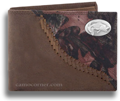 Bass Fence Row Camo Bi Fold Wallet