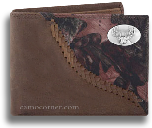 Buck Deer Fence Row Camo Bi Fold Wallet