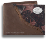 Duck Fence Row Camo Bi Fold Wallet