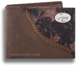 Kansas State Fence Row Camo Bi Fold Wallet