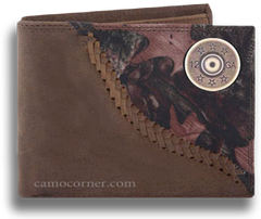12 Gauge Shot Gun Shell Fence Row Camo Bi Fold Wallet