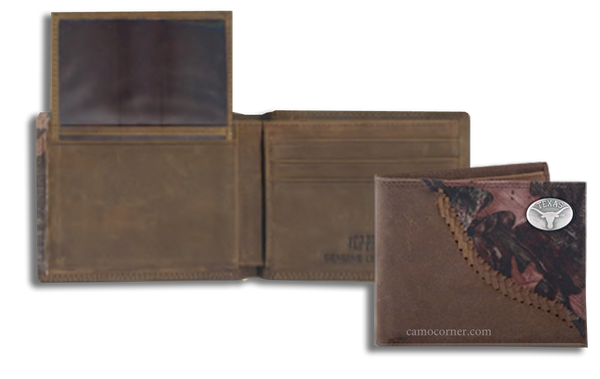 Texas Fence Row Camo Bi Fold Wallet