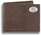 Texas A&M Crazy Horse Bi Fold Wallet