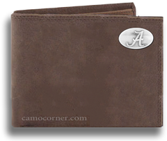 Alabama Crazy Horse Bi Fold Wallet