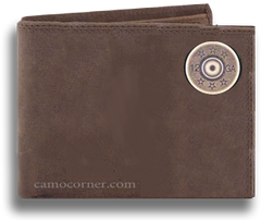 12 Gauge Shot Gun Shell Crazy Horse Bi Fold Wallet