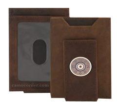 12 Gauge Shot Gun Shell Crazy Horse Money Clip Wallet