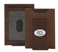 South Carolina Crazy Horse Money Clip Wallet