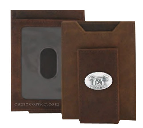 Troy Alabama Crazy Horse Money Clip Wallet