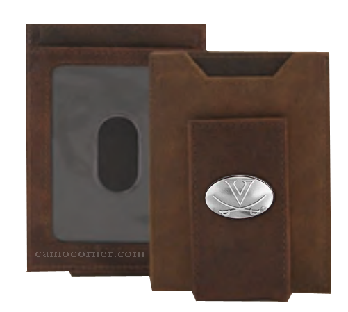 Virginia Crazy Horse Money Clip Wallet