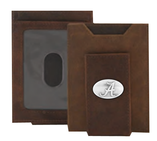 Alabama Crazy Horse Money Clip Wallet