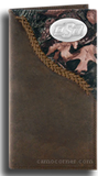 Oklahoma State Fence Row Camo Long Wallet