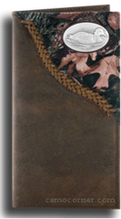 Duck Fence Row Camo Long Wallet