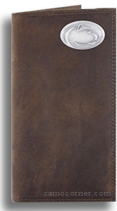 Penn State Crazy Horse Leather Roper Wallet