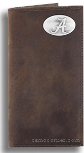 Alabama Crazy Horse Leather Roper Wallet