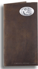 FSU Crazy Horse Leather Roper Wallet
