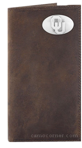 Oklahoma Crazy Horse Leather Roper Wallet