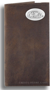 Ole Miss Crazy Horse Leather Roper Wallet