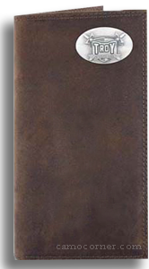 Troy Alabama Crazy Horse Leather Roper Wallet