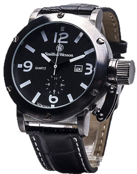 Smith & Wesson Men's SWW-LW6081 Bold Large Black Dial