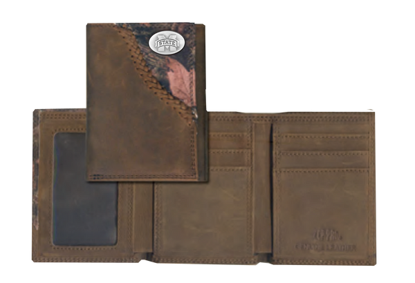 Mississippi State Fence Row Camo Tri Fold Fold Wallet