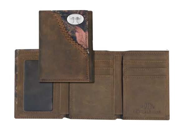 Tennessee Fence Row Camo Tri Fold Wallet