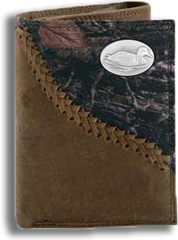 Duck Fence Row Camo Tri Fold Fold Wallet