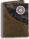 12 Gauge Shot Gun Shell Fence Row Camo Tri Fold Fold Wallet