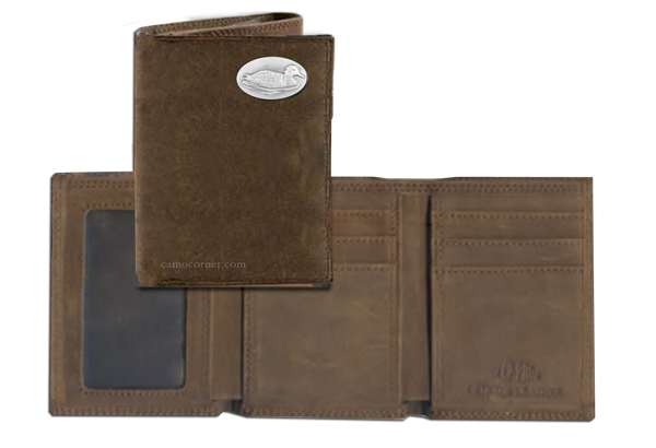Duck Crazy Horse Tri Fold Wallet