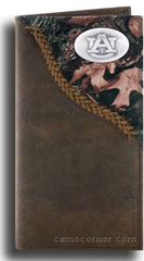 Auburn Fence Row Camo Long Wallet
