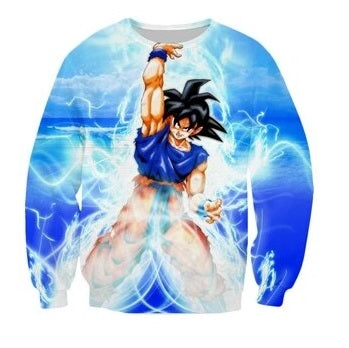 DBZ Goku Sweater - Kurama Anime Stuff