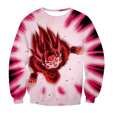 Dragon Ball Z Goku Kaioken Sweatshirt - Kurama Anime Stuff