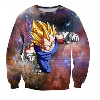 Dragon Ball Z Vegeta Sweater - Kurama Anime Stuff